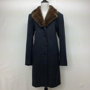 Studio by SEARLE Size 6 cashmere mink collar coat